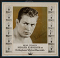 Boxing Collectibles:Memorabilia, 1927 Gene Tunney Health Exercises on Orthophonic Victor Records Set....