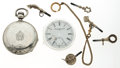 Timepieces:Other , Coin Silver Case, Philad'a Dial & 5 Silver Keys. ... (Total: 7Items)