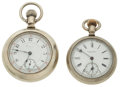 Timepieces:Pocket (post 1900), Waltham & E. Howard 18 Size Pocket Watches Runners. ... (Total: 2 Items)