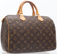Louis Vuitton Classic Monogram Canvas Speedy 30 Bag