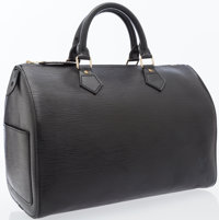 Louis Vuitton Black Epi Leather Speedy 35 Bag