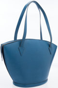 Luxury Accessories:Bags, Louis Vuitton Blue Epi Leather St. Jacques GM Tote. ...