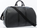 Luxury Accessories:Travel/Trunks, Louis Vuitton Black Taiga Leather Kendall GM Travel Bag. ...