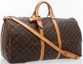 Luxury Accessories:Travel/Trunks, Louis Vuitton Classic Monogram Canvas Keepall 55 BandouliereWeekend Bag. ...