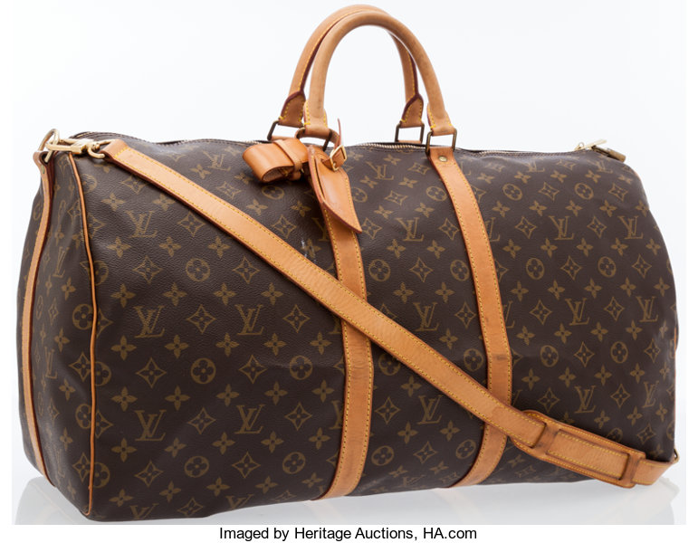 f5ca68bf2082 Louis Vuitton Classic Monogram Canvas Keepall 55