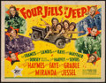 "Movie Posters:War, Four Jills in a Jeep (20th Century Fox, 1944). Half Sheet (22"" X28""). War.. ..."