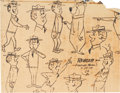 animation art:Model Sheet, The Yogi Bear Show Ranger Smith Model Sheet Group(Hanna-Barbera, 1961).... (Total: 2 Original Art)