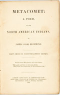 Books:Literature Pre-1900, James Cook Richmond. Metacomet: A Poem, of the North AmericanIndians. New York: Stanford & Swords, 1851. Thin twelv...