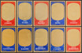 Baseball Cards:Sets, 1965 Topps Embossed Partial Set (54/72). ...