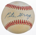 Autographs:Baseballs, Pete Gray Single Signed Baseball....