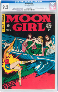 Moon Girl #5 (EC, 1948) CGC NM- 9.2 White pages