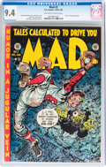 Golden Age (1938-1955):Humor, Mad #2 With EC Mailing Envelope (EC, 1952) CGC NM 9.4 Off-white to white pages....