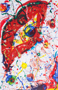 Prints:Contemporary, SAM FRANCIS (American, 1923-1994). Untitled, 1988.Lithograph in colors. 45 x 29 inches (114.3 x 73.7 cm). Ed. 10/50.Si...