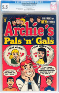 Golden Age (1938-1955):Humor, Archie's Pals 'n' Gals #1 (Archie, 1953) CGC FN- 5.5 Off-white to white pages....