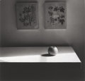 Photographs:Gelatin Silver, IRENE FAY (Russian, 1914-1986). Apple on the Sideboard, 1979. Gelatin silver. 3-3/4 x 3-3/4 inches (9.5 x 9.5 cm). Signe...