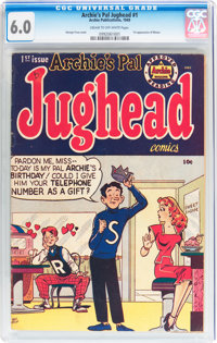 Archie's Pal Jughead #1 (Archie, 1949) CGC FN 6.0 Cream to off-white pages