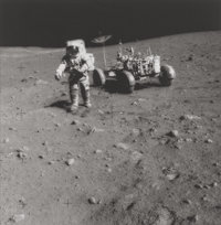 NATIONAL AERONAUTICS AND SPACE ADMINISTRATION (NASA) Astronaut Dave Scott and Lunar Roving Vehicle, Apollo 15