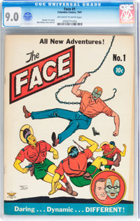 The Face #1 (Columbia, 1941) CGC VF/NM 9.0 Off-white to white pages