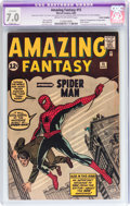 Silver Age (1956-1969):Superhero, Amazing Fantasy #15 Cover Trimmed (Marvel, 1962) CGC Apparent FN/VF 7.0 Slight (A) Cream to off-white pages....