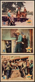 "Movie Posters:Western, The Star Packer (Monogram, 1934). Lobby Cards (3) (11"" X 14""). Western.. ... (Total: 3 Items)"