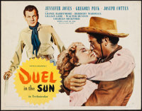 "Duel in the Sun (United Artists, 1947). Trimmed Half Sheet (21.5"" X 27.5"") Style B. Western"