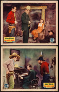 "Movie Posters:Western, The Dawn Rider (Monogram, 1935). Lobby Cards (2) (11"" X 14""). Western.. ... (Total: 2 Items)"