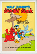 "Movie Posters:Animation, Donald's Better Self (Circle Fine Art, R-1980s). Fine Art Serigraph (21"" X 30.75""). Animation.. ..."