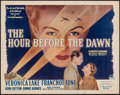 "Movie Posters:War, The Hour Before the Dawn (Paramount, 1944). Half Sheet (22"" X 28"").War.. ..."