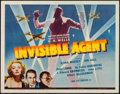 "Movie Posters:War, Invisible Agent (Universal, 1942). Trimmed Half Sheet (21.75"" X27.75""). War.. ..."