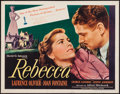 """Movie Posters:Hitchcock, Rebecca (United Artists, R-1946). Trimmed Half Sheet (21.5"""" X27.5"""") Style A. Hitchcock.. ..."""