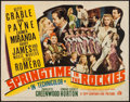 "Movie Posters:Musical, Springtime in the Rockies (20th Century Fox, 1942). Trimmed Half Sheet (21.5"" X 27.5"") Style A. Musical.. ..."