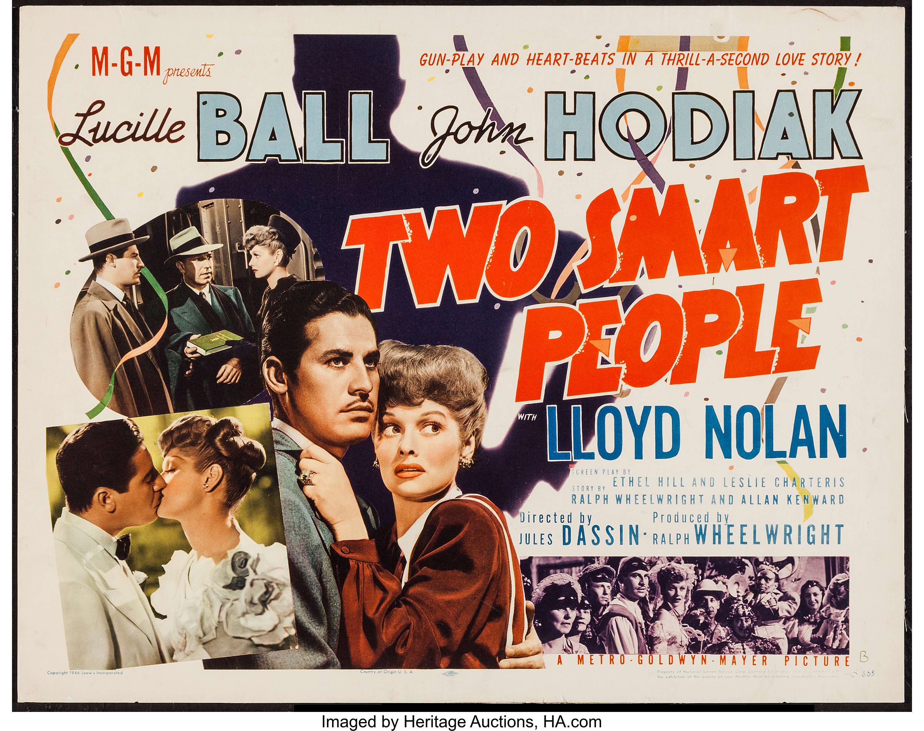 """Two Smart People (MGM, 1946). Trimmed Half Sheet (21.75"""" X 27.5"""")   Lot  #54430   Heritage Auctions"""