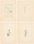 "Books:Original Art, ""Kyd"" [Joseph Clayton Clarke, 1857-1937]. A Collection of 186Original Drawings of Dickensian Characters. [London: n.d.,...(Total: 6 Items)"