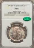 Commemorative Silver: , 1946 50C Booker T. Washington MS67 NGC. CAC. NGC Census: (62/0).PCGS Population (69/1). Mintage: 1,000,546. Numismedia Wsl...