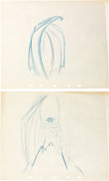 "Animation Art:Production Drawing, Fantasia ""Night on Bald Mountain"" Chernabog Rough DrawingGroup (Walt Disney, 1940).... (Total: 2 Original Art)"