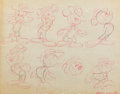 animation art:Model Sheet, The Little Whirlwind Mickey Mouse Model Sheet (Walt Disney,1941)....