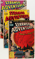 Golden Age (1938-1955):Science Fiction, Strange Adventures Group (DC, 1950-55) Condition: Average GD+....(Total: 9 Comic Books)
