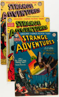 Golden Age (1938-1955):Science Fiction, Strange Adventures Group (DC, 1951-53) Condition: Average VG/FN....(Total: 9 Comic Books)