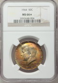 Kennedy Half Dollars, 1964 50C MS66 ★ NGC. NGC Census: (513/1128). PCGS Population(983/33). Mintage: 273,300,000. ...