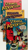 Golden Age (1938-1955):Science Fiction, Strange Adventures Group (DC, 1951-52) Condition: Average FN+....(Total: 4 Comic Books)