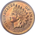 Proof Indian Cents, 1869 1C PR66 Red PCGS. CAC....