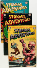 Golden Age (1938-1955):Science Fiction, Strange Adventures Group (DC, 1952-53) Condition: Average FN....(Total: 5 Comic Books)