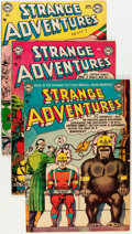 Golden Age (1938-1955):Science Fiction, Strange Adventures Group (DC, 1953-54) Condition: Average FN+....(Total: 5 Comic Books)