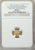 Expositions and Fairs, 1901 Pan-American Exposition, Buffalo, Octagonal MS65 NGC....
