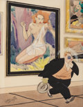 Pin-up and Glamour Art, RUSSELL PATTERSON (American, 1893-1977). Art Lover. Penciland watercolor on board. 11 x 8.75 in. (image). Signed lower ...