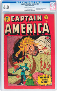 Captain America Comics #72 (Timely, 1949) CGC FN 6.0 Cream to off-white pages