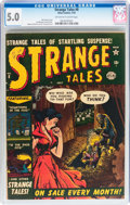 Golden Age (1938-1955):Horror, Strange Tales #8 (Atlas, 1952) CGC VG/FN 5.0 Off-white to white pages....