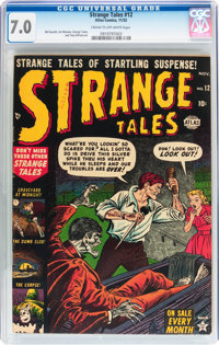 Strange Tales #12 (Atlas, 1952) CGC FN/VF 7.0 Cream to off-white pages