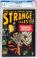 Golden Age (1938-1955):Horror, Strange Tales #14 (Atlas, 1953) CGC FN/VF 7.0 Cream to off-whitepages....