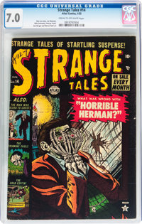 Strange Tales #14 (Atlas, 1953) CGC FN/VF 7.0 Cream to off-white pages